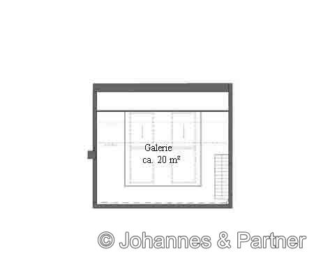 Grundriss Galerie/ Dachgeschoss