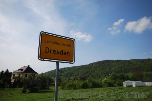 nur 500 Meter bis zum Ortseingang Dresden