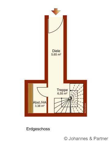 Grundriss untere Ebene und Eingangsbereich