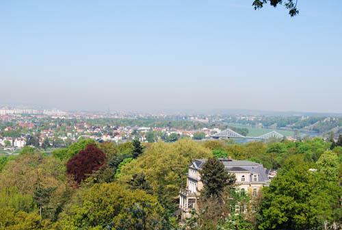 wunderschöner Blick über Dresden aus dem benachbarten Weinberg