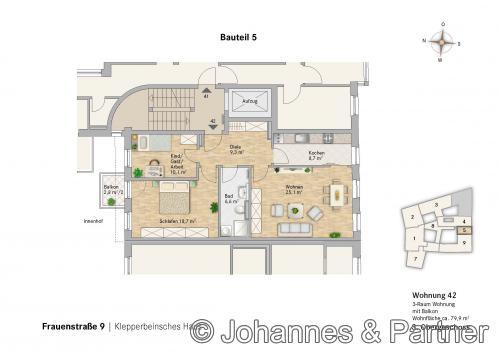 Grundriss Wohnung 32