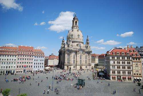 Blick zum Neumarkt und Frauenkirche