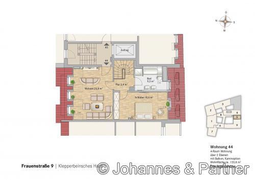Grundriss Wohnung 44