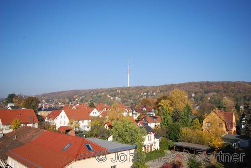 herrlicher Blick auf Elbhang und Fernsehturm