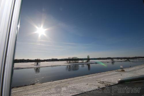 Lage und herrlicher Ausblick im Winter