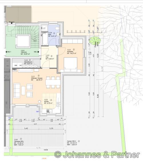Grundriss Wohnung 2 (bereits verkauft)