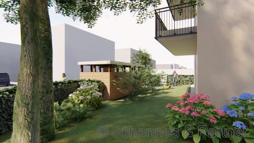 Garten Wohnung 1 (Illustration)