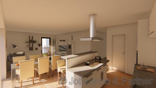 Küche und Essbereich (Illustration)