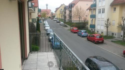 Blick vom Balkon (Foto aus der baugleichen Wohnung darunter)