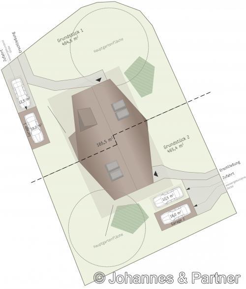ursprünglicher Außenanlagenplan