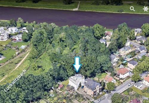 Lage des Hauses in Kleinzschachwitz am Rand eines Naturschutzgebietes